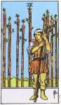 9 of Wands Upright
