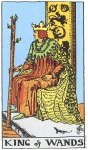 King of Wands Upright - Card images are © Copyright U.S. Games Systems, Inc.""