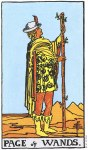 Page of Wands Upright - Card images are © Copyright U.S. Games Systems, Inc.""
