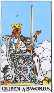 Queen of Swords Upright