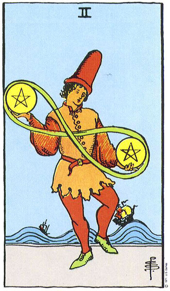 Two (II) of Pentacles – Truly Teach Me Tarot