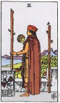 2 of Wands Upright