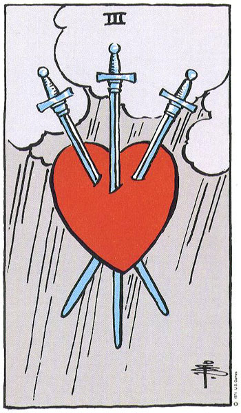 Three (III) of Swords – Truly Teach Me Tarot