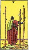 3 of Wands Upright - Card images are © Copyright U.S. Games Systems, Inc.""