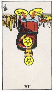 4 of Pentacles Reversed