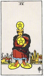 4 of Pentacles Upright