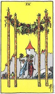 4 of Wands - Card images are © Copyright U.S. Games Systems, Inc.""