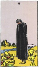 5 of Cups Upright