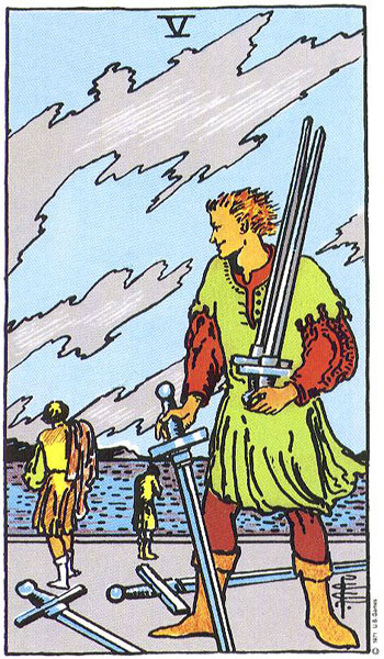 Five (V) of Swords – Truly Teach Me Tarot