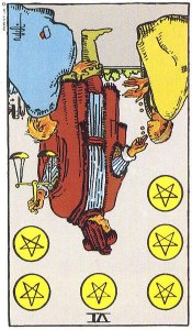 6 of Pentacles Reversed