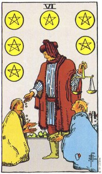 Image result for 6 of pentacles