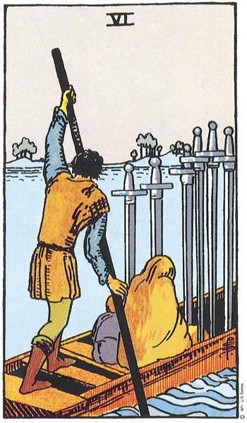 Six (VI) of Swords – Truly Teach Me Tarot