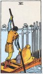 6 of Swords Upright