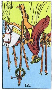 6 of Wands Reversed