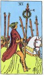 6 of Wands Upright