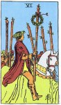 6 of Wands Upright - Card images are © Copyright U.S. Games Systems, Inc.""