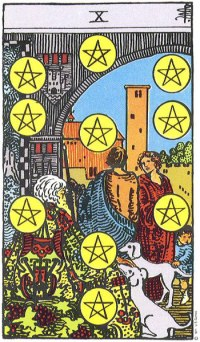 Image result for 10 of pentacles