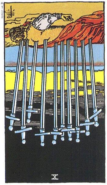 Sepuluh (X) Pedang - Benar-benar Ajari Saya Tarot