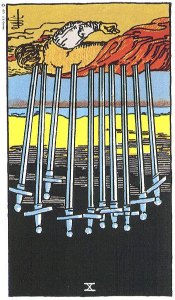 10 of Swords Reversed