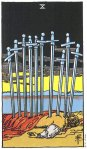10 of Swords Upright