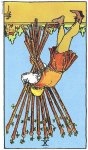 10 of Wands Reversed
