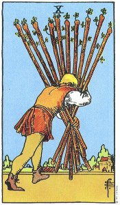 10 of Wands Upright