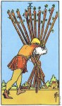 10 of Wands Upright - Card images are © Copyright U.S. Games Systems, Inc.""