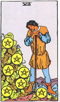 Image result for 7 of pentacles