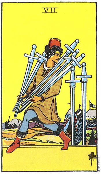 The Seven (VII) of Swords – Truly Teach Me Tarot