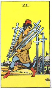 7 of Swords Upright