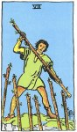 7 of Wands Upright - Card images are © Copyright U.S. Games Systems, Inc.""