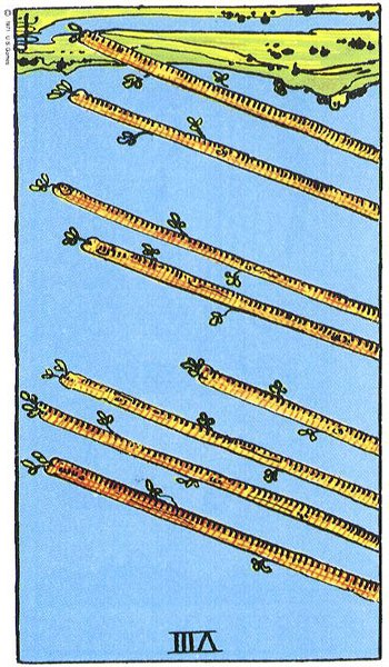 The Eight (VIII) of Wands (3/3)