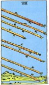 8 of Wands Upright