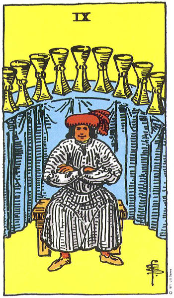 Nine (IX) of Cups – Truly Teach Me Tarot