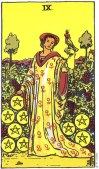 9 of Pentacles Upright