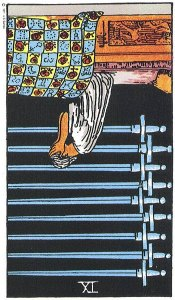 9 of Swords Reversed