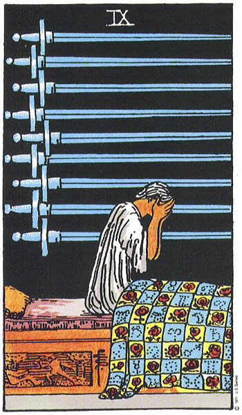 9 Of Swords Upright