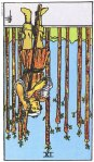 9 of Wands Reversed