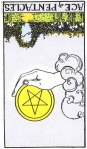 Ace of Pentacles Revesed