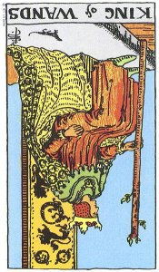 King of Wands Reversed