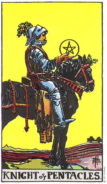 Tarot Knight Of Wands: The Knight Of Pentacles