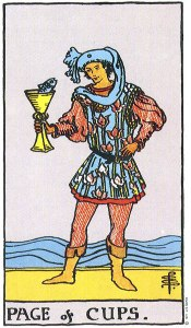 Page of Cups Upright