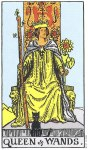 Queen of Wands Upright - Card images are © Copyright U.S. Games Systems, Inc.""