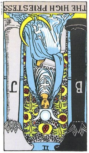 The High Priestess (II) Reversed