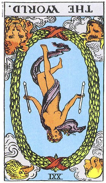 The World (XXI) Reversed | Truly Teach Me Tarot