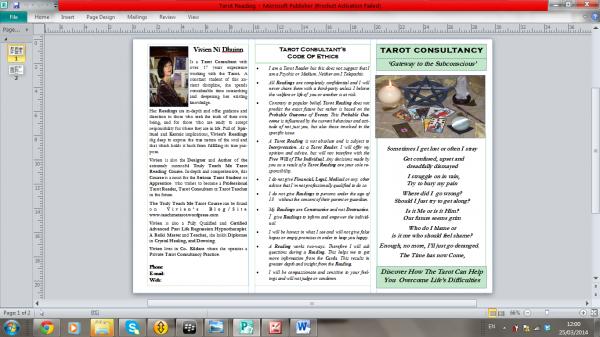 Tarot Brochure Back
