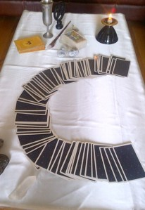 fanned tarot cards