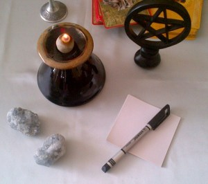 Tarot Table and paper for numerology