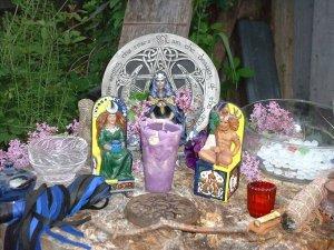 Pagan May Altar