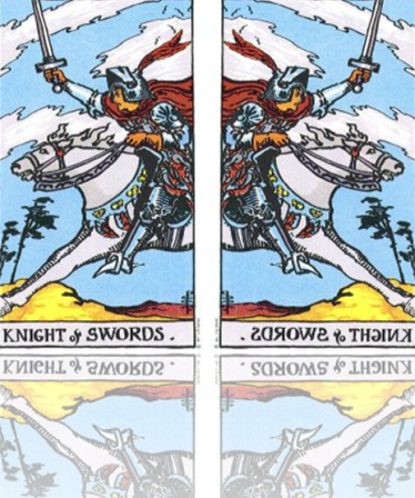 The Knight of Swords Mirrored